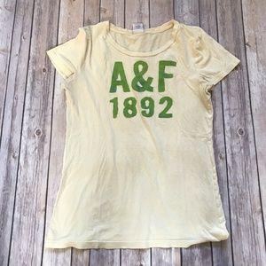 Abercrombie & Fitch Yellow Graphic Shirt Large